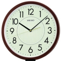 SEIKO CLOCK QXA629 Brown LumiBrite Quiet Sweep Jam Dinding ORIGINAL