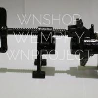 Adjustable pipe clamp heavy duty 3/4 inch with leg - klem pipa kaki