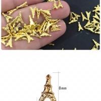 Sprinkle eiffel 3d nail art dekorasi resin dekorasi craft hiasan craft