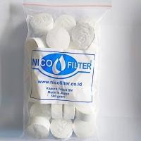 Kaporit Tablet Filter Air . Penyaring Air . Penjernih Air Nico