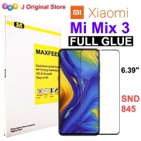 MAXFEEL Tempered Glass Xiaomi Mi Mix 3 Full Curved FULL GLUE Premium
