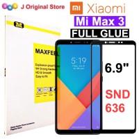 MAXFEEL Tempered Glass Xiaomi Mi Max 3 Full Curved FULL GLUE Premium