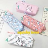 Kotak pensil unicorn/Tempat pensil unicorn termurah /seleting besar