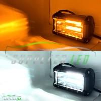 Lampu Tembak Sorot Motor 2 in 1 LED CREE 24 Mata 2 Susun Putih Kuning