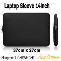 Tas Laptop Case Sleeve Neoprene Zipper Softcase Laptop 14inch