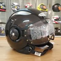 Helm Zeus 218 retro pilot - black