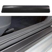 Stiker Karbon Fiber Anti Gores pelindung kaki untuk semua jenis mobil