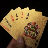 Kartu Remi Poker Emas Gold Foil - Golden