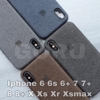 canvas case iphone X Xs Xr Xs Max bahan motif soft hard original
