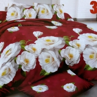 Sprei bunga mawar putih 160x200