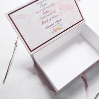 Box Bridesmaid / packaging for bridesmaid or groomsmen / gift box