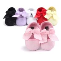 Prewalker bayi perempuan motif mute pita / sepatu bayi pesta import