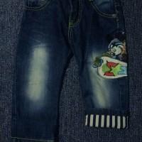Celana jeans panjang mickey mix garis anak laki boy