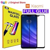 MAXFEEL Tempered Glass Xiaomi Mi 8 Lite Mi8 Lite Full Glue