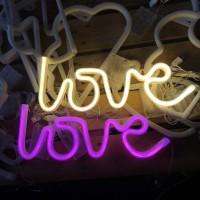 Lampu hias LED Dekorasi kamar tidur dekor rumah cafe LOVE