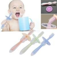 Sikat gigi lidah latihan bayi anak training toothbrush silikon teether