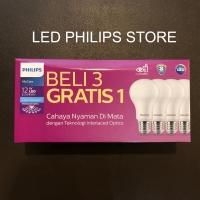 Philips Lampu LED 13Watt, 13 Watt, 13W, 13 W (1Paket Isi 4Pcs)