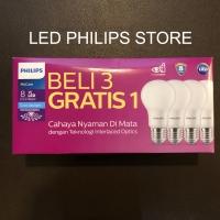Philips Lampu LED 8Watt, 8W, 8 Watt, 8 W (1 paket isi 4PCS)