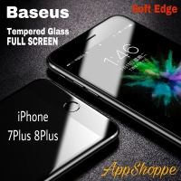 Baseus Tempered Glass SOFT EDGE Cover FULL SCREEN iPhone 7plus 8Plus