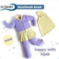 Flowswim baju renang muslimah anak size M