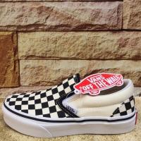 Sepatu Anak - Vans Kids Slip On Checkerboard Original BNIB