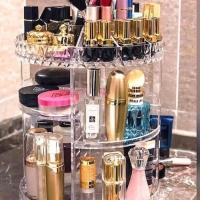 Rak Organizer Acrylic Make up / kosmetik Putar 360derajat