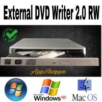 External DVD-RW CD Writer 2.0 Burner for Mac Laptop PC