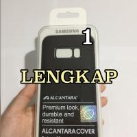 Official Samsung Galaxy S8 Alcantara Cover Case Casing Hardcase Ori