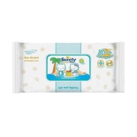 Sweety Baby Wipes Non Perfumed 80+4