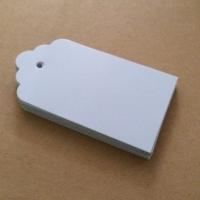 Hangtag karton label tag merk baju polos serba 20 ribu per pack