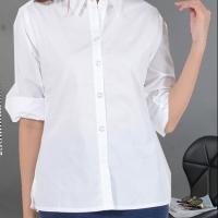 [Foveo] Kemeja Putih Wanita Formal Polos Stretch
