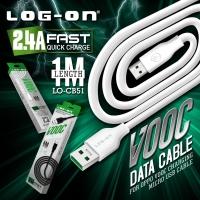 Kabel data oppo vooc fast charging 100% original merk logon