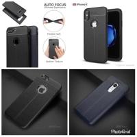 VIVO V9 Autofocus Carbon Silikon Leather Case Silicone