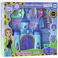 Mainan rumah rumahan frozen princess castle take me home anna lengkap