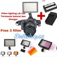 Video lighting led LD-160 termasuk baterai dan charger - led 160