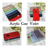 Acrylic case violet buat iphone X 8+ 8 7+ 7 6+ 6, redmi 5+ 5,