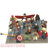 Lego Mini Figure set Marvel The Avengers age OfUltron Characters+papan
