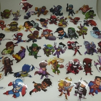 Sticker Koper Rimowa / Travel Label Super Hero DC and MARVEL isi 50pcs