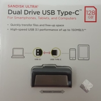 SanDisk Flashdisk USB 3.1 OTG Type C 128Gb