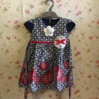 Dress pesta anak, baju lebaran anak , baru , size M