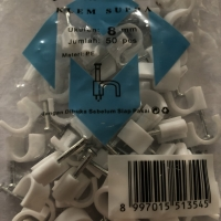 Klem kabel clip kabel cable no 8 mm no.8 masko beton