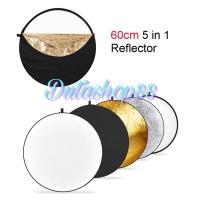 Reflektor cahaya studio foto 5 in 1 60cm - reflector 5 in 1