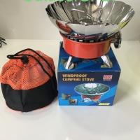 Kompor windproof portable, windproof camping stove