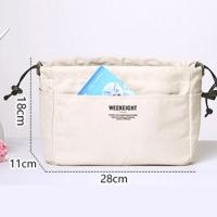 Korean Dual Bag in Bag Organizer , Tas dalam Tas / Tas Canvas Travel M