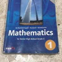 Buku Matematika SMA kelas 1 Bekas Kurikulum KTSP Bahasa Inggris