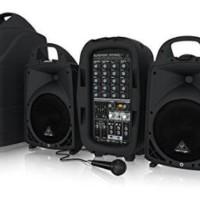 Sound system portable 6 ch. 500watt 2 speaker