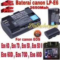 Baterai canon LP-E6 for EOS 60D - 70D - 80D - 6D - 7D - 5D -5D mark II