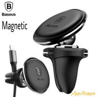 BASEUS 360 Rotation Magnetic Air Vent Handphone Car Cable Clip Holder