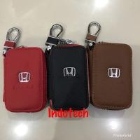 Dompet STNK Kulit Mobil Honda / Dompet kunci / Gantungan Kunci Mobil - Hitam
