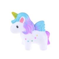 Squishy unicorn galaxy star purple slow rebound murah import kuda pony